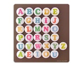 Alphabet Letter Magnets Learning Toy - Modern Type Face - Home Schooling magnets - Back to School - Uppercase or Lowercase Letter magnets