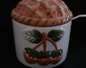 Strawberry Jam  Jar Set / VINTAGE