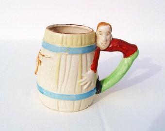 Occupied Japan Cup, Kids Mug, Western Mug, Cowboy Baby Milk Cup - Longhorn Steer