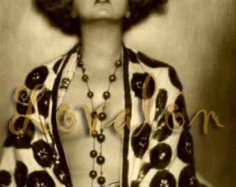 MATURE... La Bohème... Instant Digital Download... 1920's Vintage Nude Fashion Photo by Lovalon