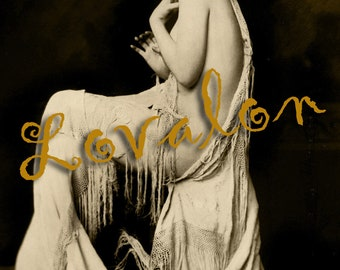 MATURE...  1920's Glamour Girl... Instant Digital Download... Vintage Nude Photo... Erotic Photography Image by Lovalon