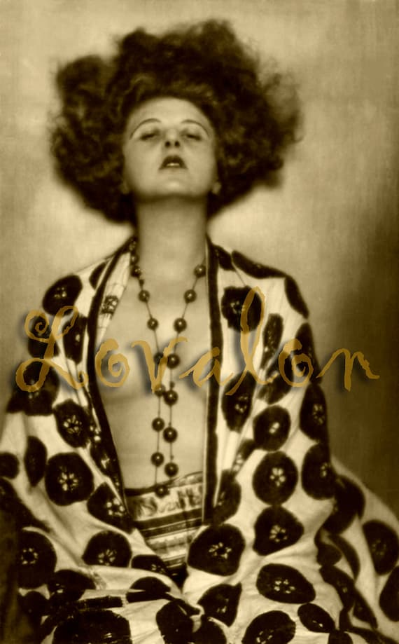 MATURE... La Bohème... Deluxe Erotic Art Print... Vintage 1920's Nude Glamour Photo... Available In Various Sizes