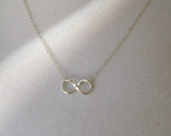 All Sterling Silver Infinity Charm on Delicate Sterling Chain, Symbolic, Necklace, Reese Witherspoon Necklace, Revenge