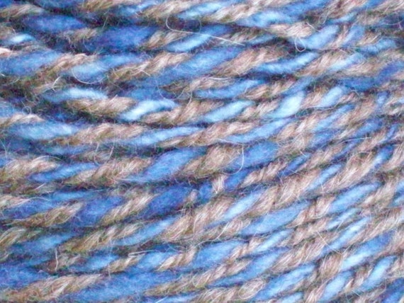 """YARN, Handspun, organic, Farm Speciality of CORMO WOOL, hand-dyed, and natural, 132  yards, """"Boots and Jeans"""""""