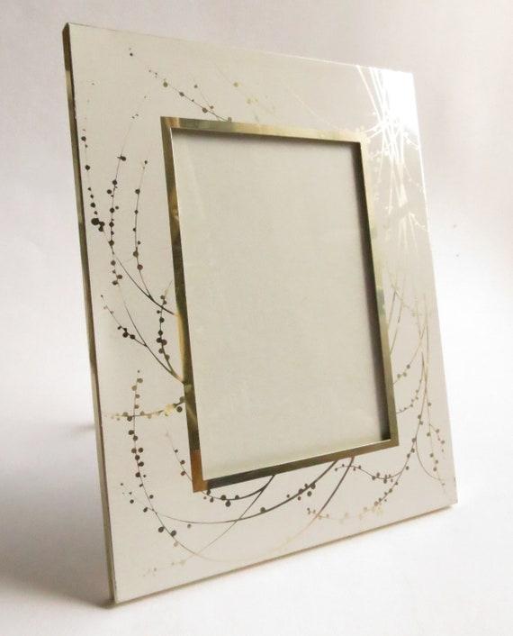 Galaxy burst White and Gold Metal Photo Frame