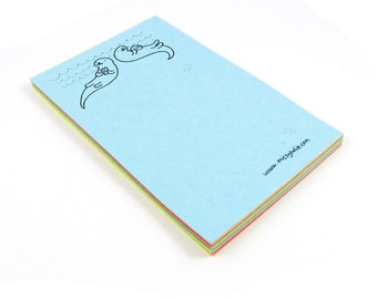 Double Otters Mini Notepad