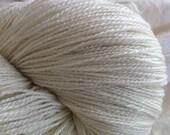 Reserved for Sara LACE Glimmer Merino Silk Stellina Lace  Undyed Yarn, Ecru Lace Yarn Blank, Lace Stellina Yarn, Wedding Shawl Yarn,