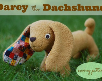 Darcy the Dachshund - Easy PDF Sewing Pattern With Step-by-Step Photos and Instructions