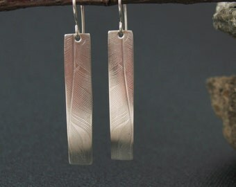 Feather Earrings,  Sterling Earrings, Ready to ship