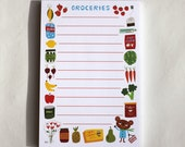 Magnetic Grocery Notepad by Kathleen Habbley