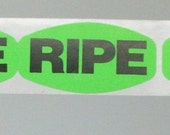 80 RIPE stickers, neon green, for your mom