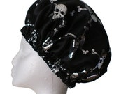 Dreadlocks or Mens  Shower Cap -  Skull and Crossbones