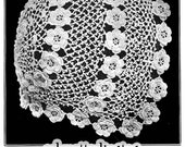 1916 Art Neuveau Titanic WWI Flapper Era Baby Irish Crochet Bonnet Pattern DIY Infant Cap Hat