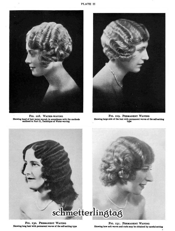 1930s Hairstyle Book Marcel Waving Flapper Prohibition Era
