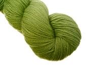 Handpainted Sparkle Sock Yarn - ARCADE GREEN - 438 yards - 100 gms