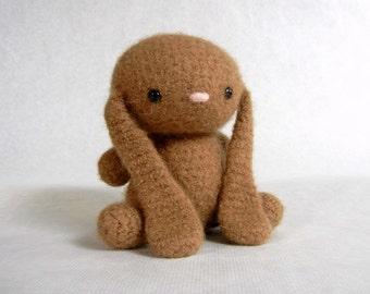 Felted Wool Bunny Crochet Plush Caramel Limited Edition