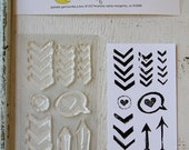 chevron it up small clear stamp set