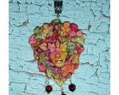 Fiery Autumn Greenwoman Pendant  Lady of the Forest