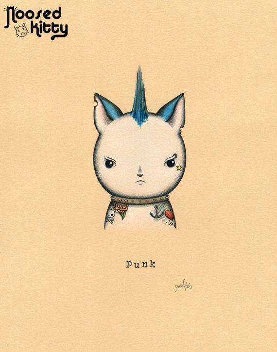 Punk Cat Print