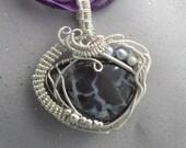 Australian Boulder Opal wire wrapped pendant