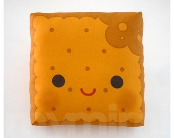 Pillow, Biscuit Pillow, Breakfast Food, Throw Pillow, Cushion, Kawaii, Home Decor, Kids Room Decor, Play Room Decor, 7 x 7""