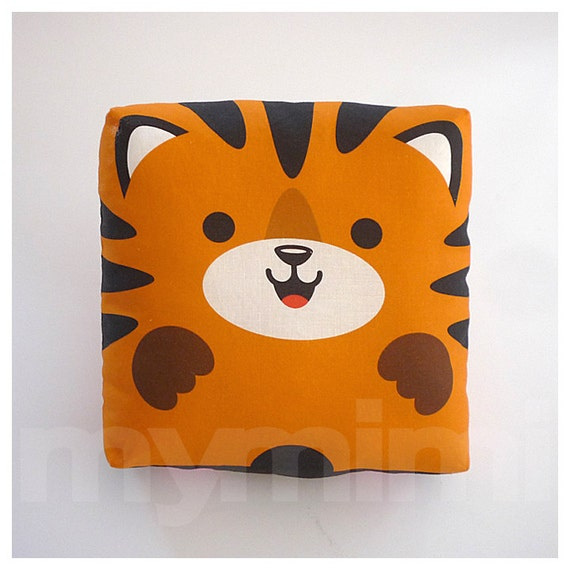 Jungle Animal Pillow : Stuffed Animal Tiger Pillow Jungle Animal Throw Pillow