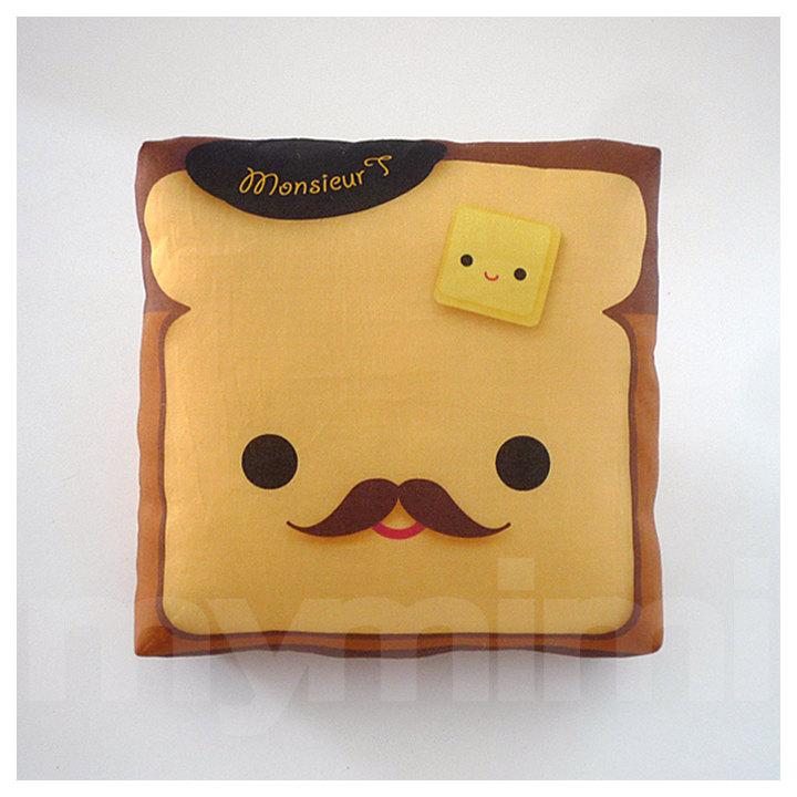 Brown Pillow Toast Pillow Food Pillow Movember Kawaii