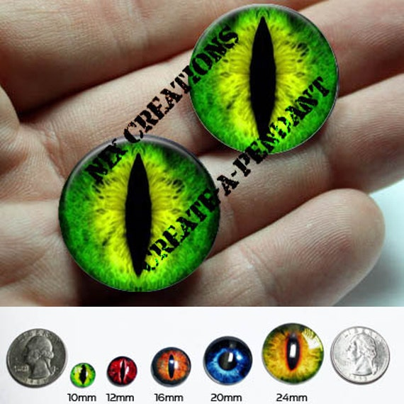 20mm Glass Eyes Green Taxidermy Doll Eyes Cabochons for Steampunk Jewelry and Pendant Making