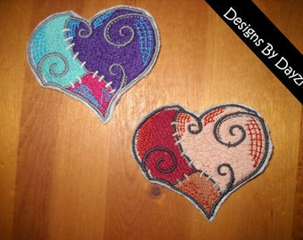 Sally Stitches Nightmare Before Christmas Heart Patch