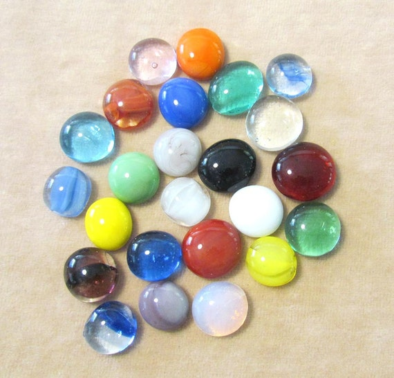 Solid Color Marbles : Solid cat eye clearie or mixed color round