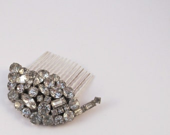 Vintage Bridal Hair Brooch Comb