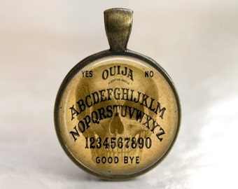 Skull Ouija - Pendant, Necklace or Key Chain in choice of 4 Colors - Occult