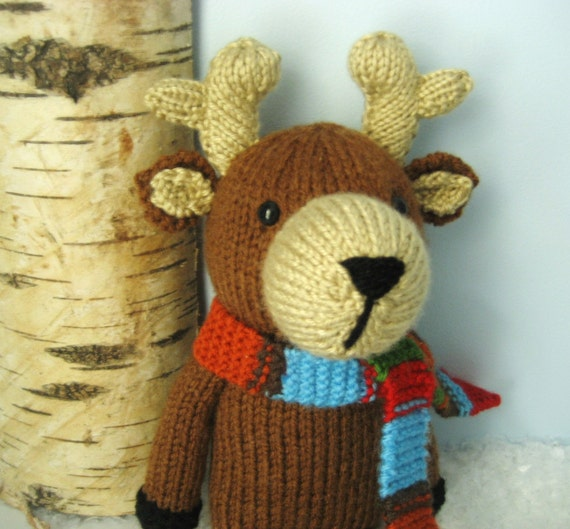 Amigurumi Knits Download : Amigurumi Knit Reindeer Pattern Digital Download from ...