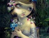 Portrait of Ophelia flower shakespeare fairy art print by Jasmine Becket-Griffith12x16 BIG