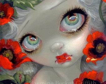 Poisonous Beauties III: Opium Poppy flower fairy art print by Jasmine Becket-Griffith 8x10