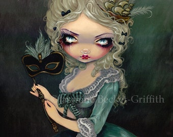 Marie Masquerade french queen antoinette fairy art print by Jasmine Becket-Griffith12x16 BIG