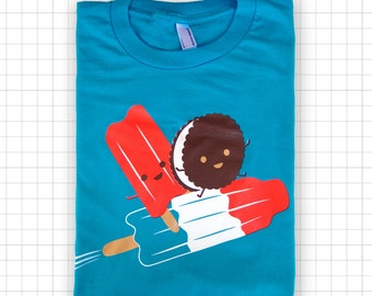 Rocketing Ice Pops American Apparel T-shirt