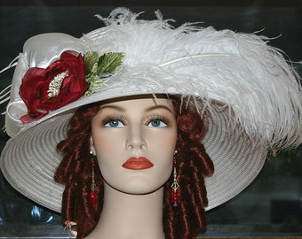 Kentucky Derby Hat Edwardian Downton Abbey Hat Ascot - Lady Florence
