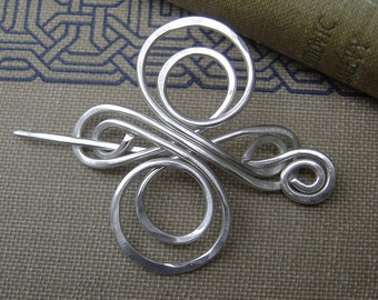 Little Celtic Knot Cross Sterling Silver Shawl Pin, Scarf Pin, Sweater Brooch - Celtic Infinite Swirl - Celtic Accessory - Lace Shawl Pin