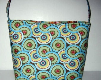 Handbag Purse Tote | Amy Butler Curry Umbrella's fabric | Medium size bag