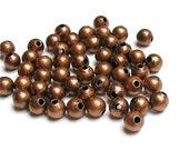 BDBAC-rd30 - Bead, Round, 3mm, Antique Copper - 100 Pieces (1pk)