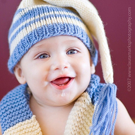 Knitting Pattern Tutorial: Baby Hat / Stocking Cap / Pixie Hat