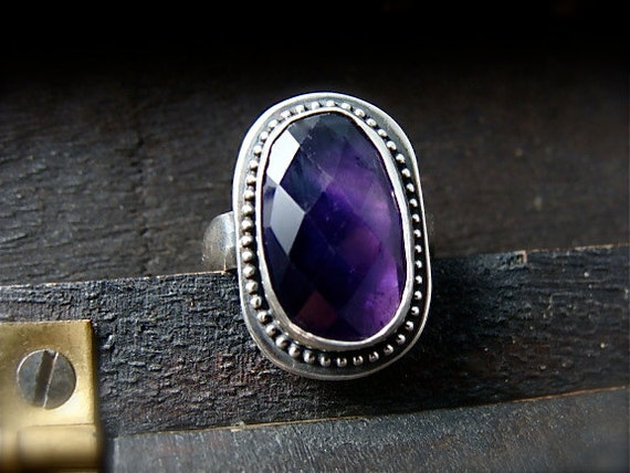 baroque amethyst ... gemstone cocktail ring