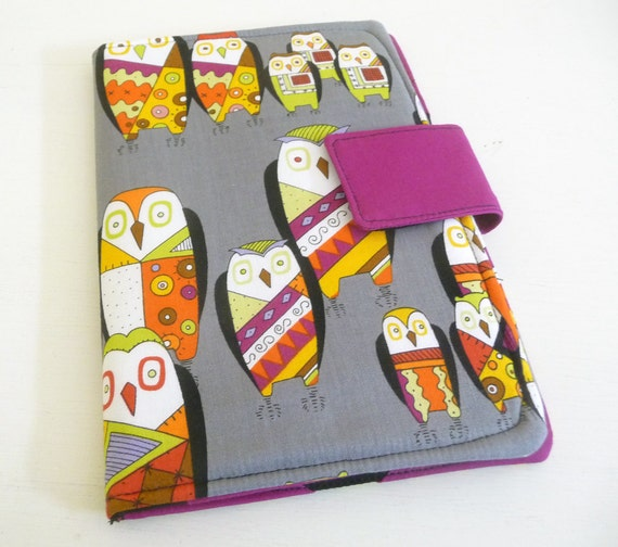 Kindle Fire Cover, Case - Witchy Stitchy Owls