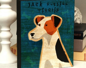 """Whimsical Dog Art Box- Great Dog Gift- Pick Your Pooch- 8"""" x 10""""- Dad Gift- Husband Gift for Dad- Art for Men- Gift for Mom- Gift"""
