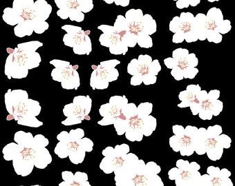 White Cherry Blossom Vinyl Decal Set 41 Blossoms