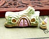 Miniature Gnome Fairy Hollow Log House Handmade