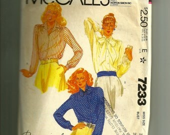 Vintage McCall's Misses' Blouses Pattern 7233