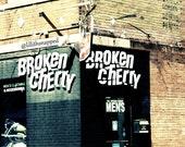 chicago architecture broken cherry boutique urban original photograph 5x5