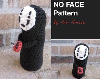 No Face crochet pattern Spirited Away amigurumi PDF
